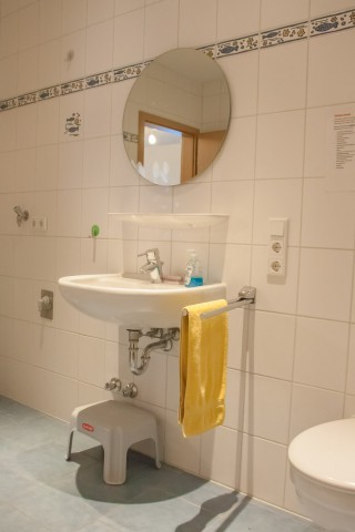 Ferienwohnung an der Nordsee Badezimmer mit Dusche und WC