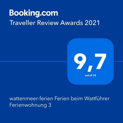 Ferienwohnung an der Nordsee, Bewertung booking.com