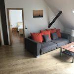 Ferienwohnung an der Nordsee, Sofa mit Wohnzimmer