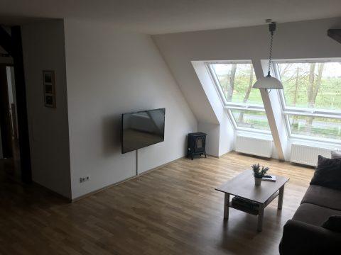 Ferienwohnung an der Nordsee, Wohnzimmer mit TV